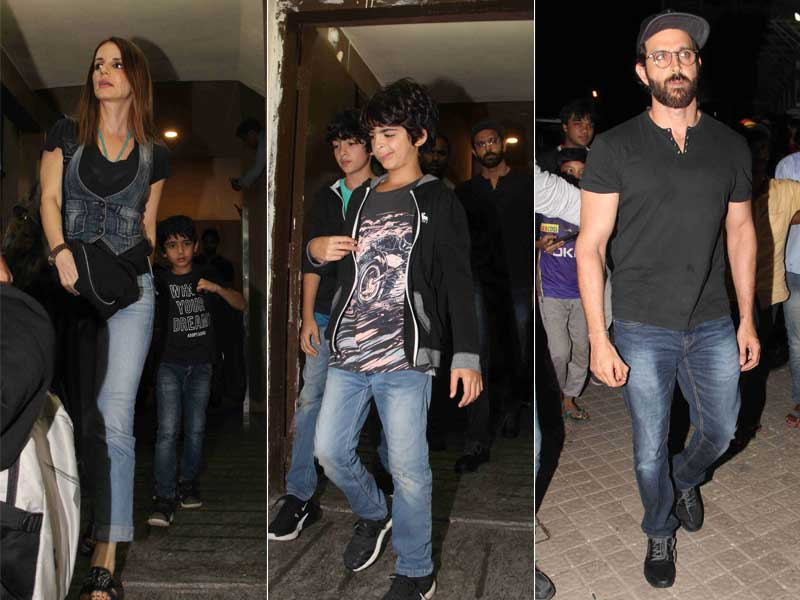 An Evening Well Spent For Hrithik, Sussanne And Kids