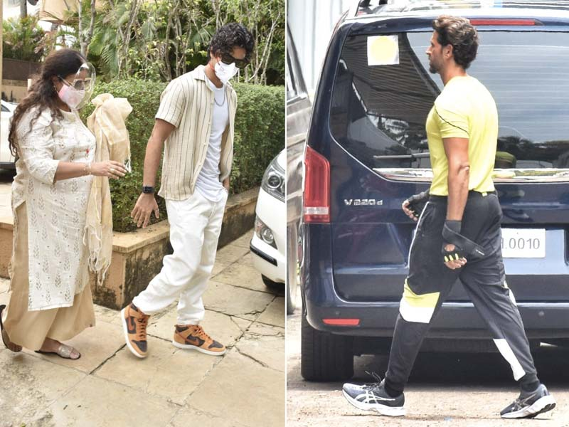 Photo : Catching Up With Hrithik Roshan And Ishaan Khatter