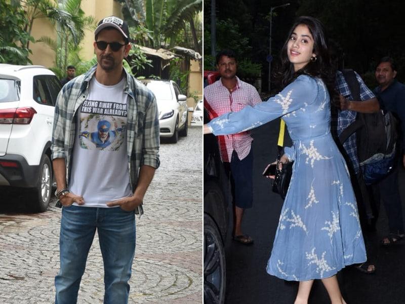 How Hrithik Roshan And Janhvi Kapoor Brightened Up Mumbai