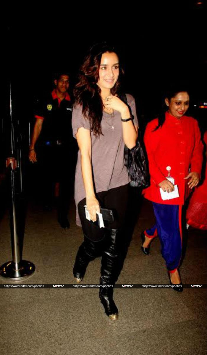 Flying High: Hrithik, Shraddha at the Airport