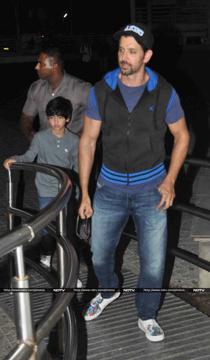Hrithik Roshan, Sussanne\'s Movie Date With Their Son