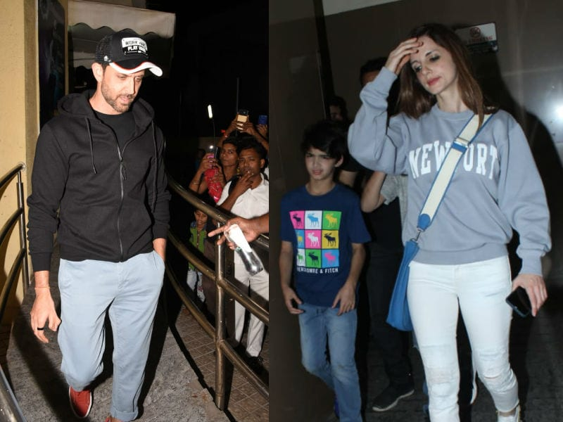 Hrithik Roshan, Sussanne Khan Out On Movie Date With Their Sons