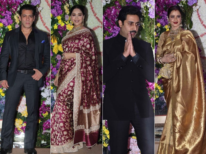 Salman, Madhuri, Abhishek, Rekha Add Star-Power To Sooraj Barjatya's Son Devaansh's Wedding Reception