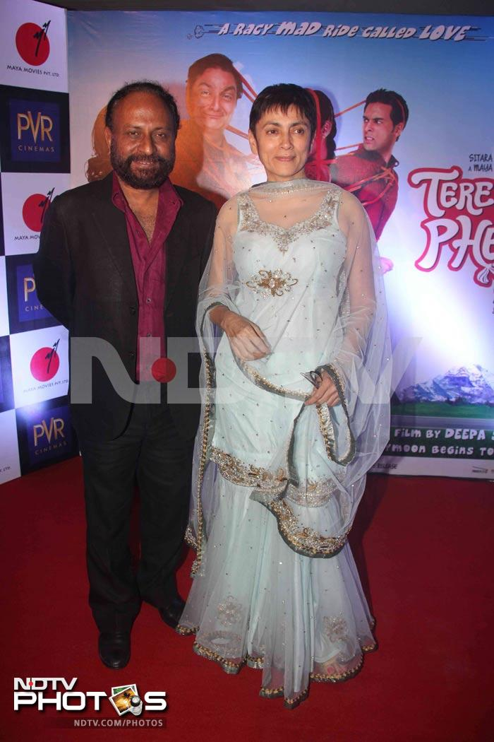 Stars at the premiere of Tere Mere Phere