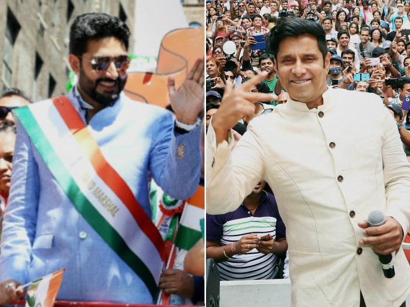 Saffron, White And Green In New York: Abhishek, Vikram At India Day Parade
