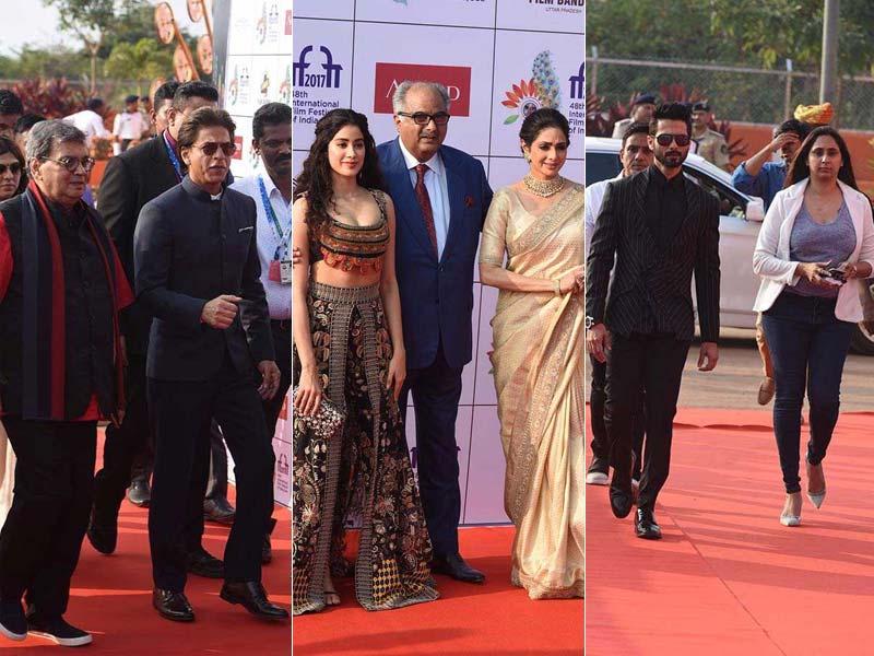 Sridevi, Janhvi, Shah Rukh Khan - Stars Of IFFI Day 1