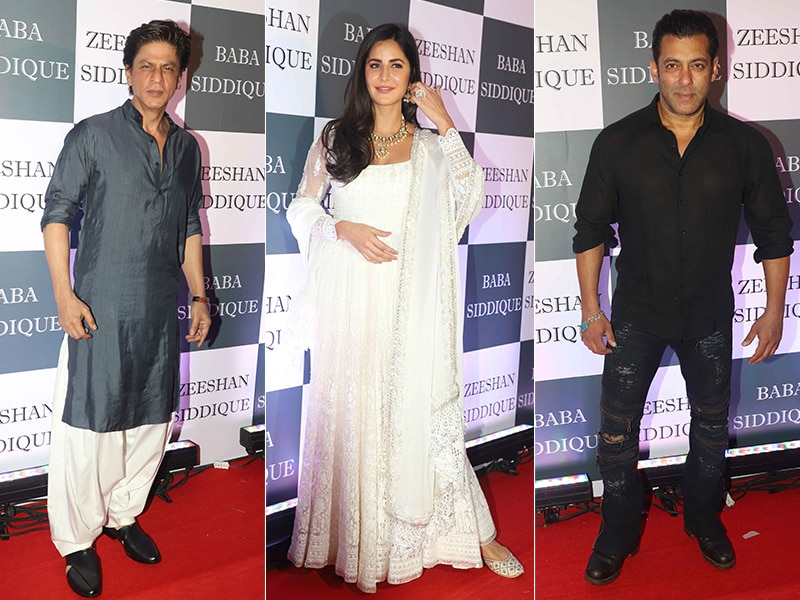 Shah Rukh Meets Salman, Katrina At Baba Siddique's Iftaar Party