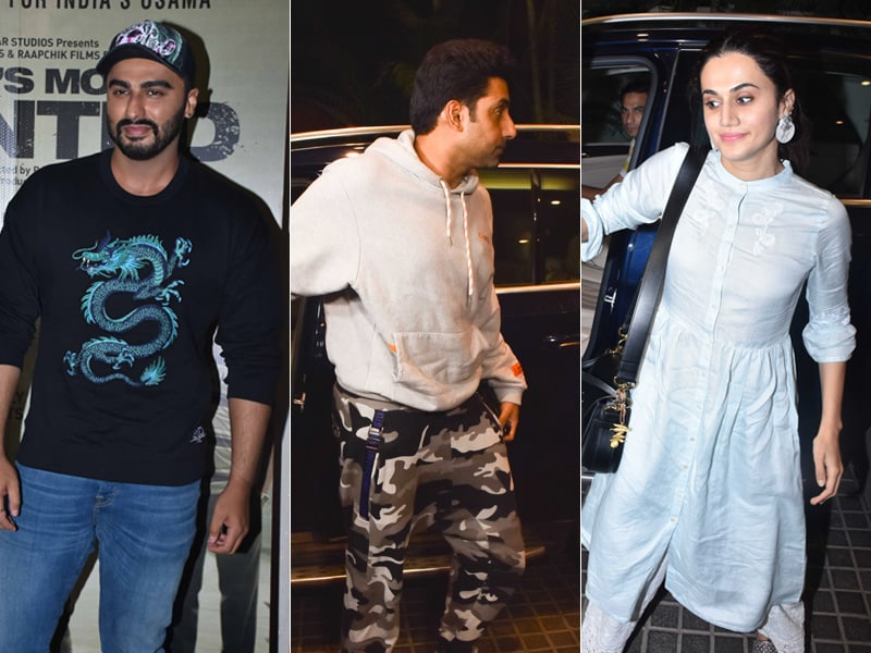 Arjun Goes To The Movies With Most Wanted Buddies Abhishek, Taapsee