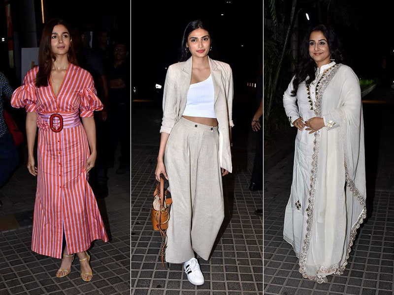 A Movie Date With Alia, Athiya And Vidya Balan