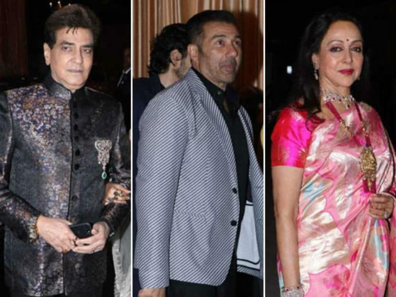 Jeetendra, Hema Malini, Sunny Deol Add Stardust To Isha Ambani's Wedding Reception In Mumbai