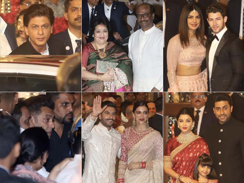 Photo : रजनीकांत, दीपिका-रणवीर, प्रियंका-निक समेत ईशा अंबानी की शादी में पहुंचे तीनों खान