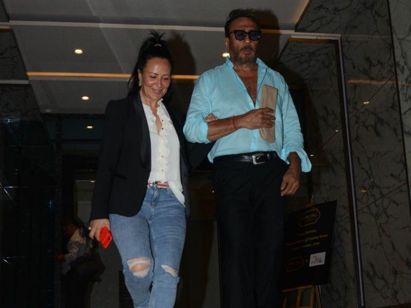Jackie Shroff, Bhagyashree At Poonam Dhillon's Birthday Party