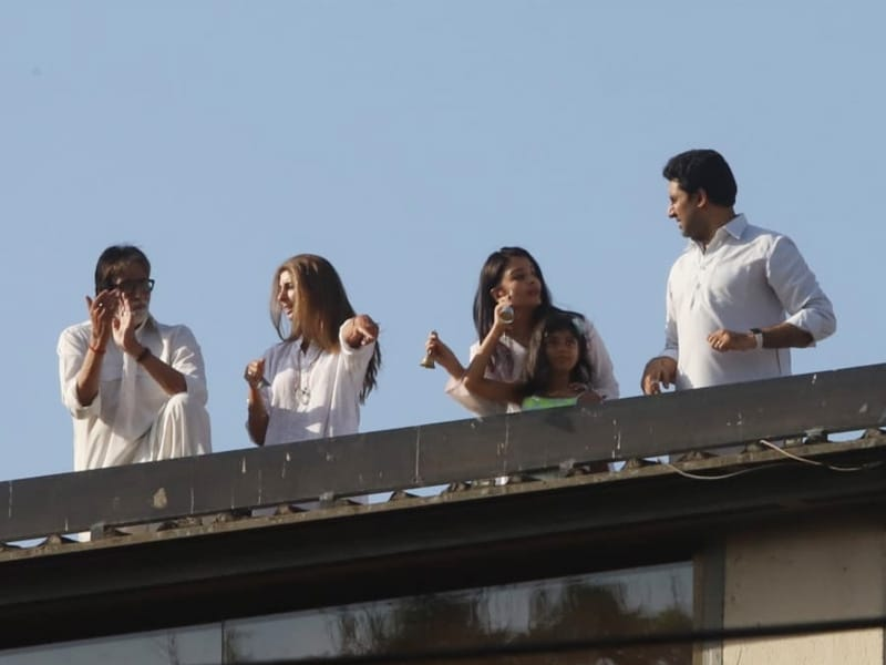 On Janata Curfew, The Bachchans And Other Celebs Cheer For The COVID-19 Fighters
