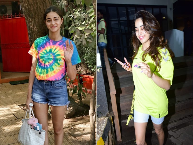Janhvi Kapoor And Ananya Panday Stepped Out In Bright Colours