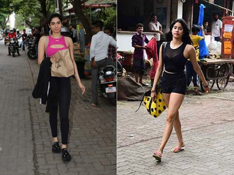 Kapoor Sisters Janhvi  And Khushi Are Regular With Their Gym Dates