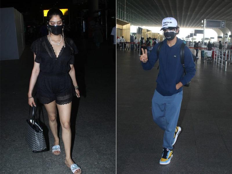 Photo : जाह्नवी कपूर के अलावा मुंबई एयरपोर्ट पर नजर ये सितारें