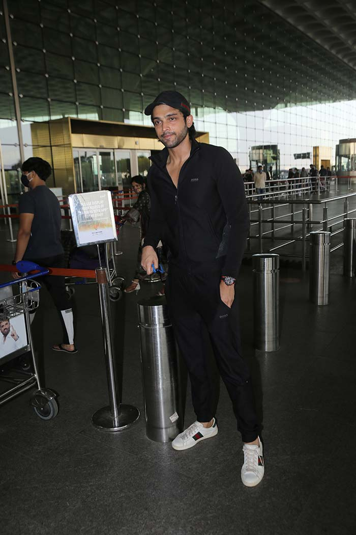 Parth Samthaan was also pictured at the airport.