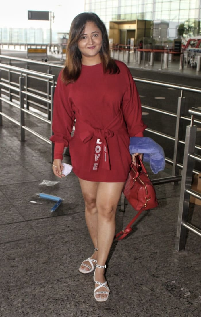 Rashami Desai was also spotted at the airport.