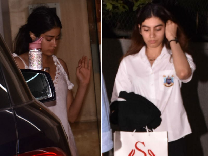 Janhvi And Khushi Dropped By Arjun's Home