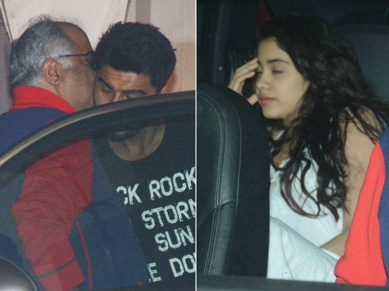Janhvi, Khushi Visit Brother Arjun With Dad Boney Kapoor