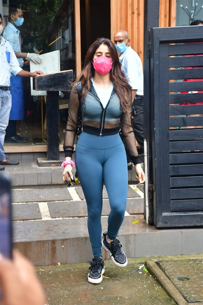 Actress Janhvi Kapoor was on Tuesday spotted in Bandra.