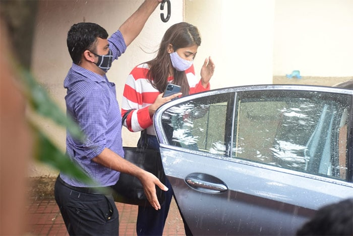 Pooja Hegde was also photographed outside her Pilates studio.