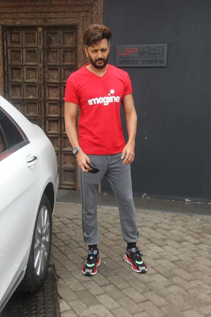 Riteish Deshmukh was also spotted outside his gym.