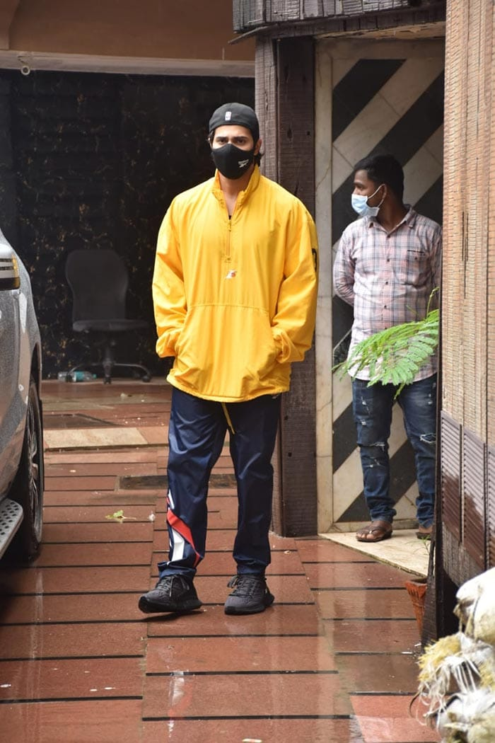 Varun Dhawan was pictured outside his gym in Juhu.