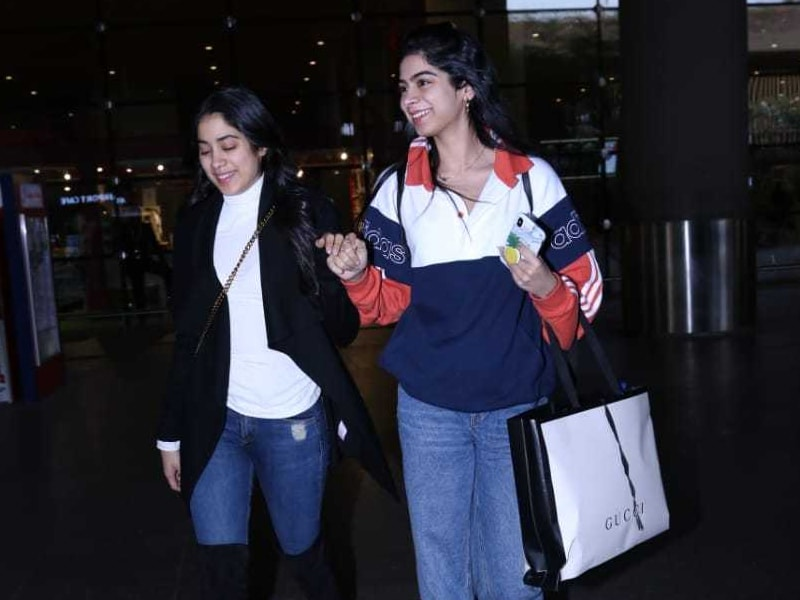 Janhvi and Khushi Kapoor's Quick Guide To Comfortable Airport Looks