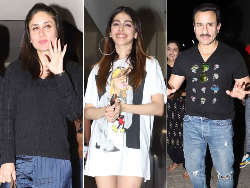 Kareena Joins Saif And Alaia For An Early Show Of Jawaani Jaaneman