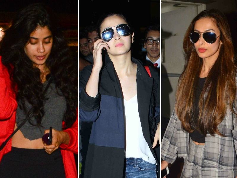 Jhanvi Kapoor, Alia Bhatt And Malaika Arora Are High On Style