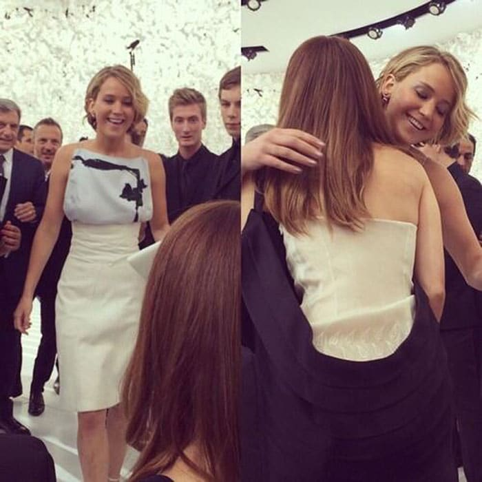 From the Frontline of Fashion: Emma Gets Jennifer\'s Hand in Her Face