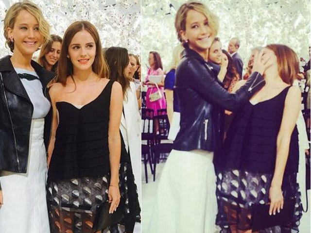 From the Frontline of Fashion: Emma Gets Jennifer's Hand in Her Face