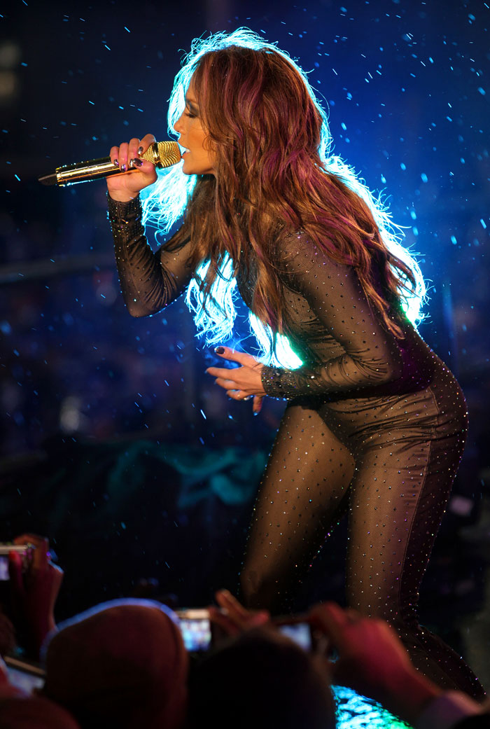 JLO wears nearly-naked catsuit
