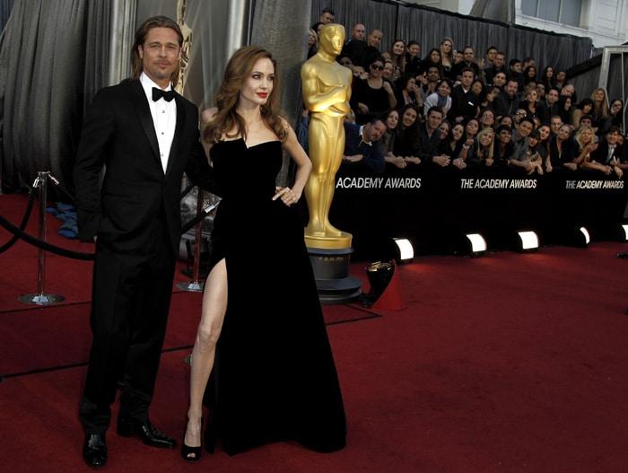 Top 10 on Angelina Jolie\'s show of leg