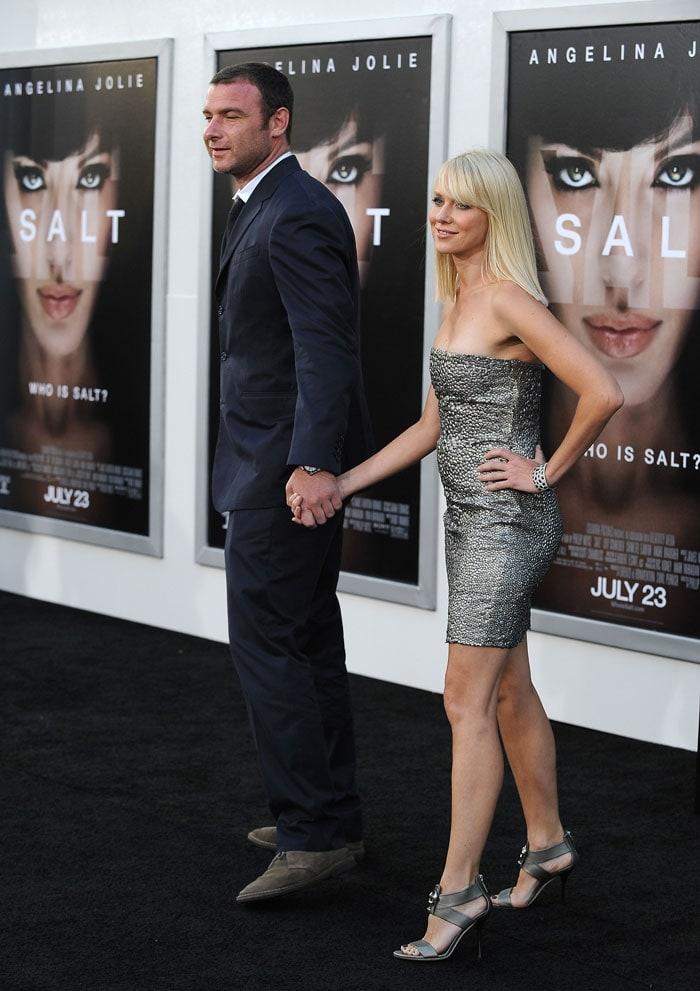 Jolie, Pitt at the premiere of Salt