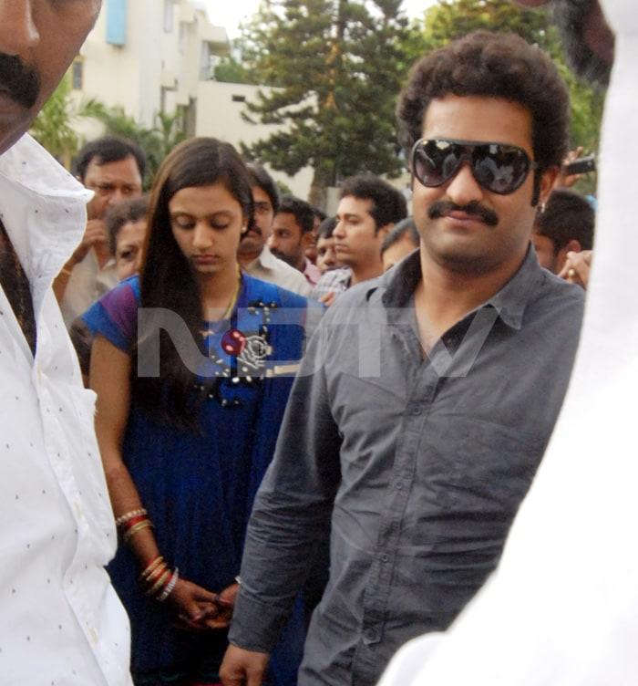 Jr. NTR, Lakshmi visit Tirupati