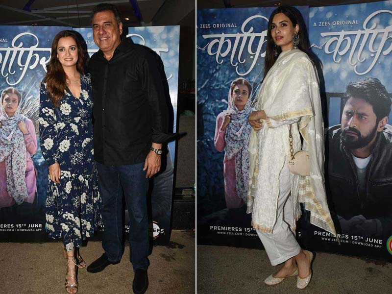 Diana Penty and Boman Irani Watch Dia Mirza's Kaafir
