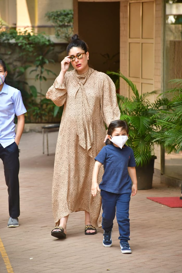 Mom-To-Be Kareena Kapoor Spotted With Son Taimur