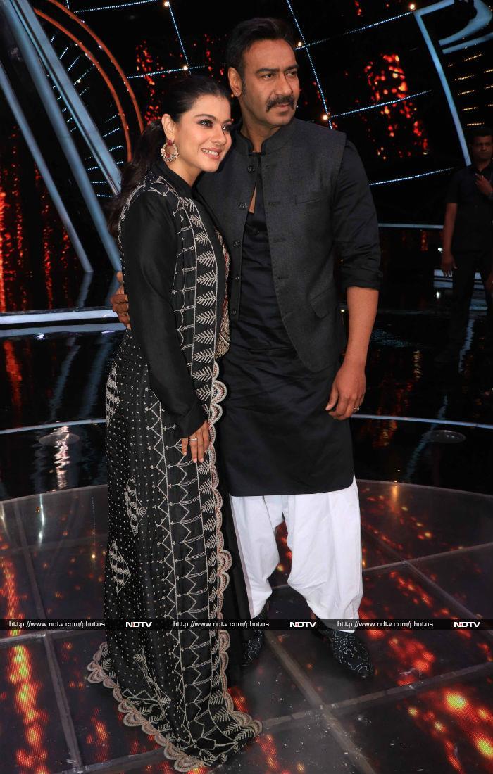 इंडियन आइडल 10 के सेट पर काजोल-अजय ने की जमकर मस्ती
