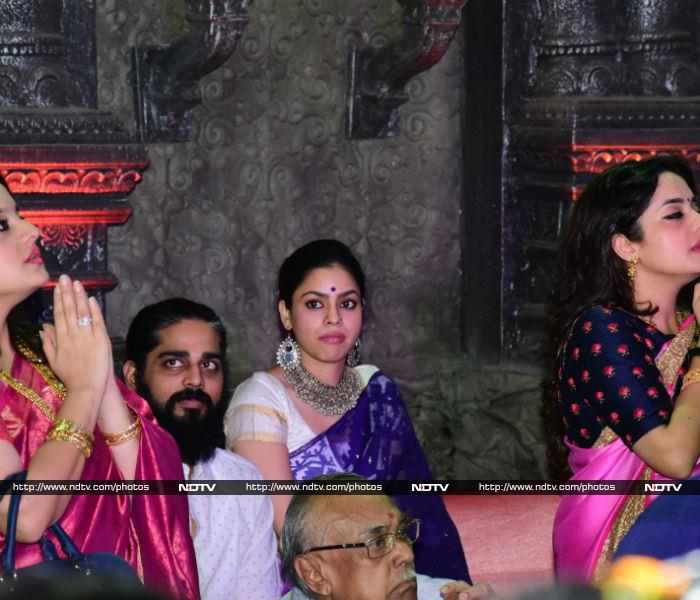 Kajol Spotted With Family At Durga Puja Pandal
