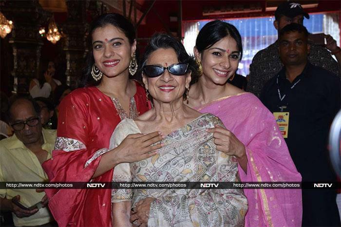Kajol, Tanishaa And Tanuja Are All Set For Durga Puja Celebrations