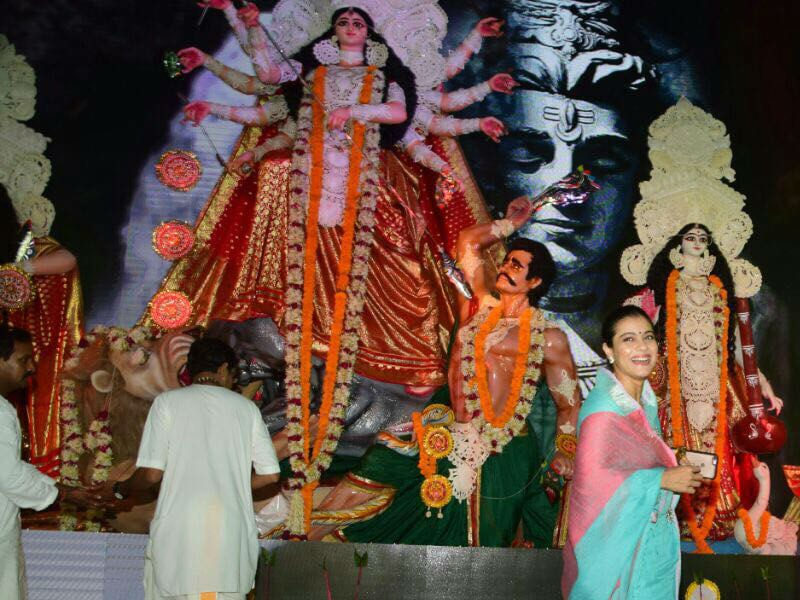 Kajol Begins Durga Puja Celebrations