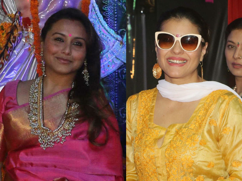 Rani Mukerji And Kajol's Pujo Outing