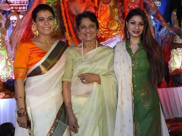 Kajol Celebrates Durga Puja With Tanuja Tanishaa