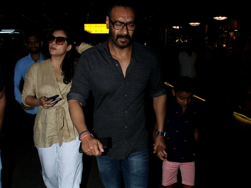Kajol, Ajay Devgn And Yug's Airport Diaries