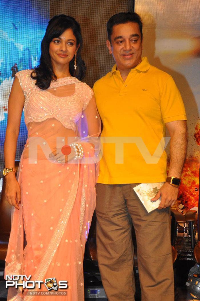 Kamal Haasan, Pooja at Vishwaroopam music release