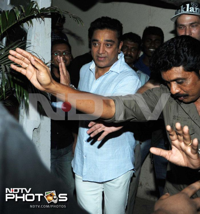 Kamal Haasan shoots in Mumbai, Anil Kapoor drops by