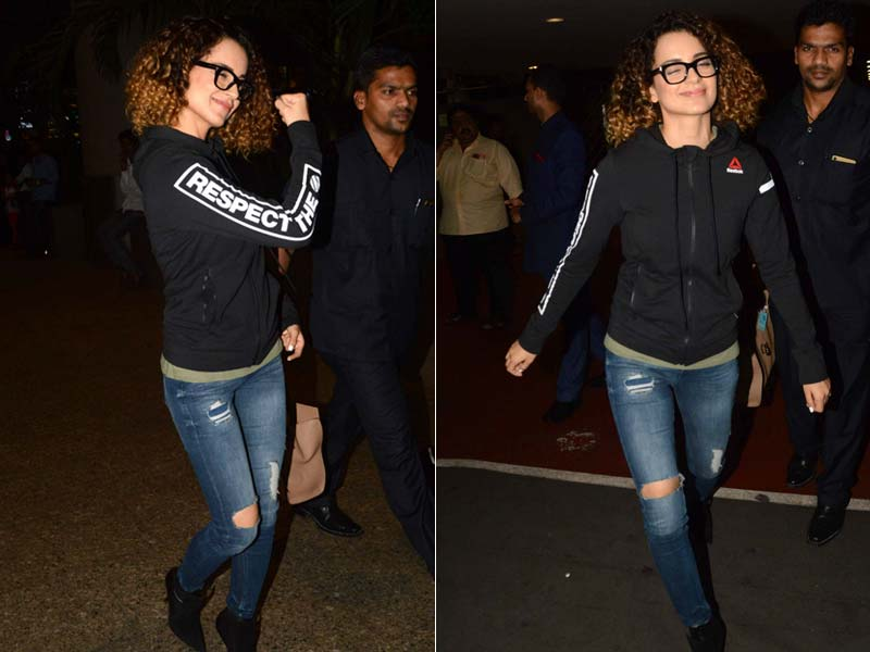 Photo : Kangana Ranaut Is In A Good Mood And It's Infectious