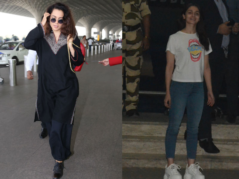 Busy Bees Kangana Ranaut And Alia Bhatt Are On Their Toes
